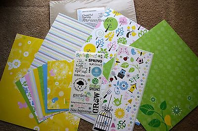 Creative Memories 12x12 Cheerful Spring Additions Kit Birds Nature Happy
