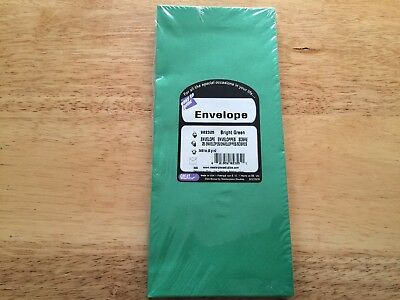 Great Papers Bright Green #10 Business Christmas Holiday Envelopes 25 ct