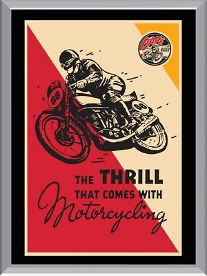 Cafe Racer Motorcycling A1 To A4 Size Poster Prints