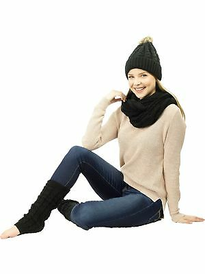 Exotic Identity Women's Cable Knit, 3 Piece 'Wonderland' Gift Set - Infinity ...
