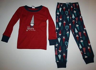 NEW Gymboree Outlet Boy Holiday Pajamas PJs 4 5 6 7 8 10 12 Red Gnome