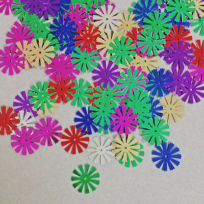 100 x 17 mm Metallic Spoke Sequins - mix of colours