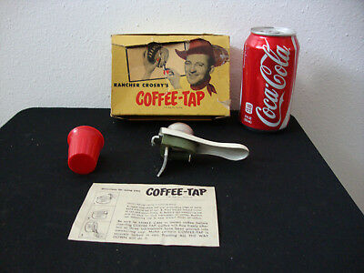 Vintage Rancher Crosby's Coffee Tap in Original Box W/ Instructions