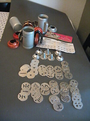 Lot 3 Mirro Cookie Pastry Press with 46 Disc 7 tips and Recipes