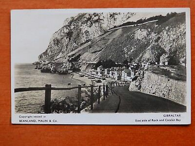 Beanland photographic postcard: East side of Gibraltar Rock and Catalan Bay