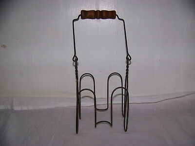 Vintage Canning Jar Basket Carrier Lifter, Wire,wood Handle