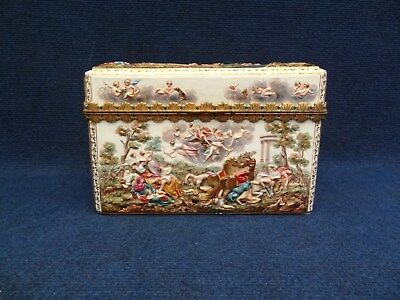 Meissen Porcelain Ormolu-Mounted Capodimonte Style Box And Cover 19Th Century