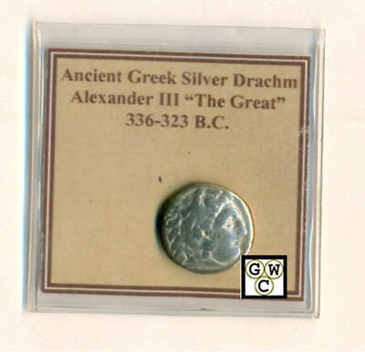 "Ancient Greek Silver Drachm Alexander III ""The Great"" 336-323 B.C. (OOAK)"