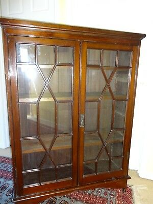 Mahogany glazed bookcase
