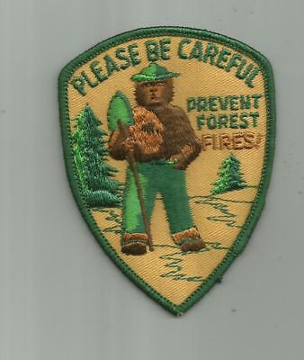 Vintage Smokey Bear Please Be Careful Prevent Forest Fires Patch Ranger Service