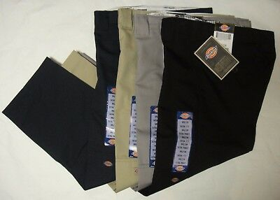 DICKIES Boys QP200 Flex Waist Relaxed Fit Double Knee Pants 8 10 12 14 16 NWT