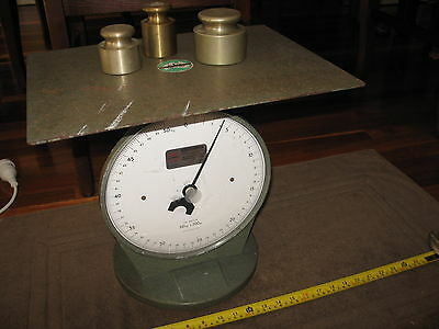 Vintage Wedderburn Postal Parcel Scale 50kgs x 200g Works Well Industrial Look