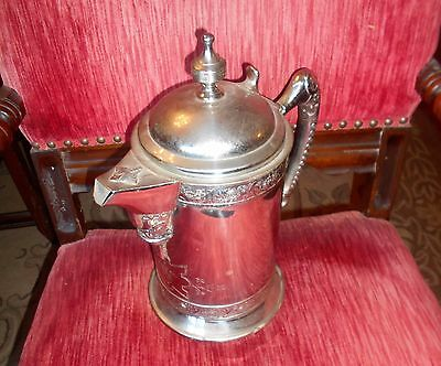 Mermod Jaccard St Louis Silverplated Engraved Insulated Ice Water Pitcher. 1854