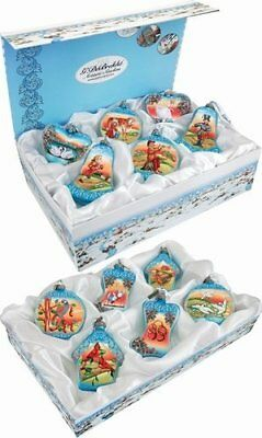 12 Days of Christmas G DeBrekht Ornaments Boxed Set New Glass Hand Painted
