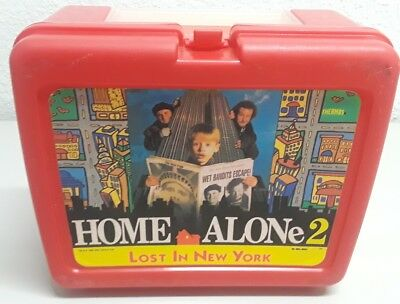 Vintage Thermos Plastic Lunchbox Home Alone Lost in New York No Thermos