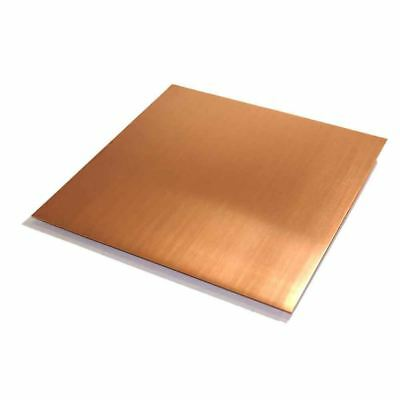 "C110 Copper Sheet 0.021 (24 ga.), 12"" Width, 12"" Length, Mill Finish"