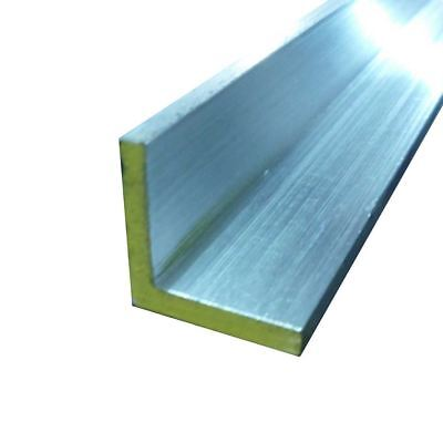 """6063-T52 Aluminum Architectural Angle 1/2"""" x 1/2"""" x 60"""" (1/16) (3 Pack)"""