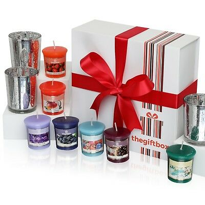 A Luxurious Scented Candle Gift Set by The Gift Box Containing 8 Beautifully Sce