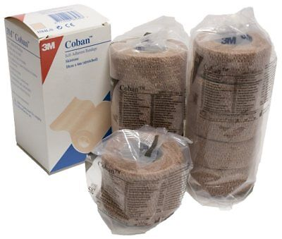 Coban Cohesive Bandage from 3M Health Care in Tan 10cm x 6m