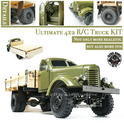 1/12 Scale Soviet ZIS-150 4x2 Layout R/C Light Truck with Metal Chassis KIT Set