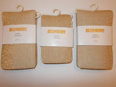 New Gymboree Gold Sparkle Tights Holiday Dressy Siize 5 6 Or 7 8
