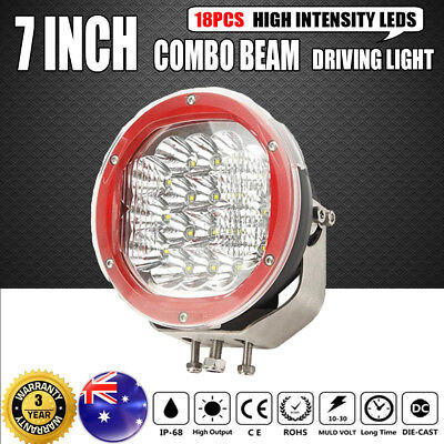 7Inch 1800W Cree Led Driving Light Replace Hid Spot Combo Offroad Jeep Truck 9""