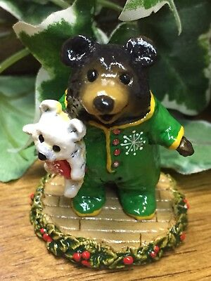 Wee Forest Folk limited BLACK BEAR BB-10 for Christmas