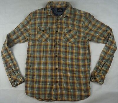 Rare Vintage SCOTCH AND SODA Finest Plaid Flannel Checkered Twill Shirt 90s L