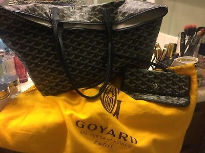 Goyard St. Louis Tote PM (Black/Black) Authentic