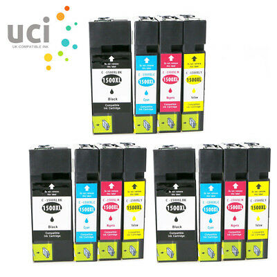 12 Ink Cartridges PGI-1500XL for Canon MAXIFY MB2050 MB2150 MB2155 MB2750 MB2755