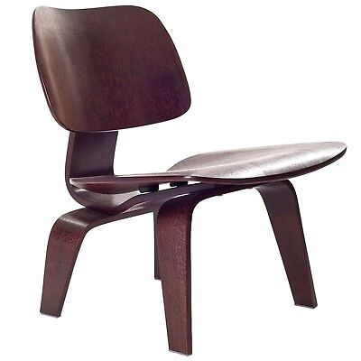 LexMod Fathom Plywood Lounge Chair in Wenge