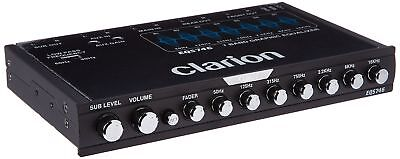 Clarion EQS746 1/2 DIN Graphic Equalizer with Built-in Crossover