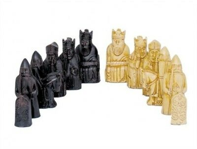 NEW Dal Rossi ISLE OF LEWIS Sculpted Polyresin Chess Pieces Board NOT Included
