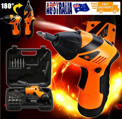 Electric Drill Driver Bits Set Screwdriver Wireless Recharger Cordless 180° Fold
