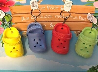 BABY CROCs RUBBER SLIPPER SHOE KEY CHAINS (LOT OF 4) Assorted Unique Lot