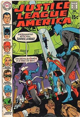 Justice League of America #78, G+, 81, G, 106, G, 109, VG/F