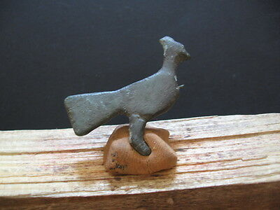 ROOSTER BIRD FIBULA ANCIENT ROMAN BRONZE ZOOMORPHIC BROOCH 1-2 ct. A.D.