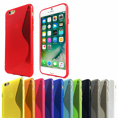 Slim Soft Gel Cover Tough Silicone Case for Apple iPhone 5 5c SE 6 6s 7 Plus 8 X