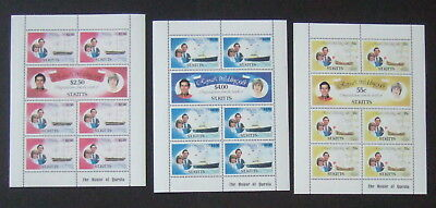St Kitts 1981 Royal Wedding Sheetlets yachts MNH UM unmounted mint