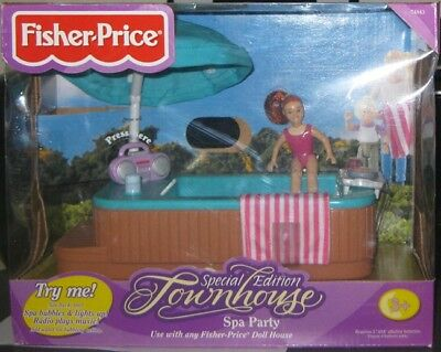 Fisher Price Special Edition Townhouse Spa Party **nrfb** Dated 2000