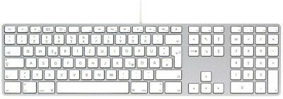 Apple Tastatur  Keyboard mit Ziffernblock USB Mac Deutsch QWERTZ MB110D/B