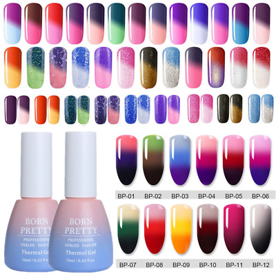 10ml BORN PRETTY Temperature Color Changing Soak Off UV Gel Polish Nail Varnish