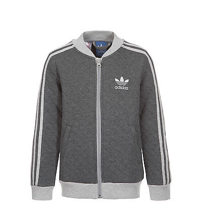 adidas Originals Fleece Superstar Trainingsjacke Kinder dunkelgrau / grau NEU