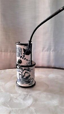 Old Chinese Water Pipe, Smoking, Pipe, Blue White Porcelain