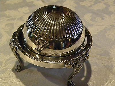 Vintage Silver Plate Butter Dome Dish-STAMPED  F.B Rogers Silver Co 273 - 1883