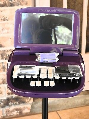 Purple Luminex Steno Machine. This is a Perfect Condition Steno Machine!
