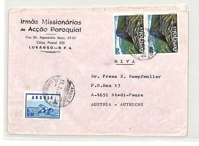CA144 1990 Angola Airmail Cover MISSIONARY VEHICLES PTS