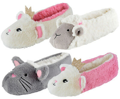 dd6acfe988b7 GIRLS 3D NOVELTY Plush Character Slippers Kids Mules Booties Shoes Xmas Gift  - EUR 8
