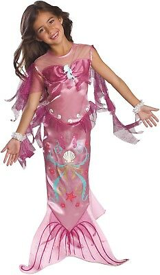 Toddler Girls Enchanted Pretty Pink Mermaid TV Film  Fancy Dress Costume Outfit