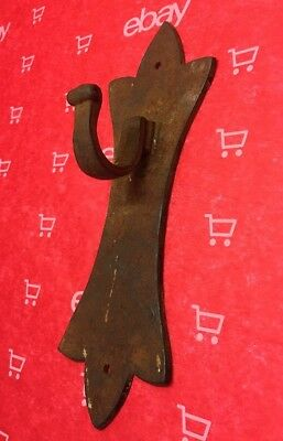 Antique hanging Hook blacksmith wrought Iron primitive barn vintage Marked #789